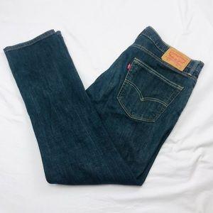 Levis 511 36 x 32 blue denim slim fit jeans
